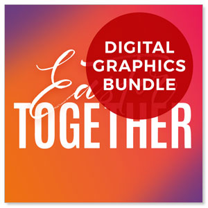 Easter Together Hues Church Graphic Bundles