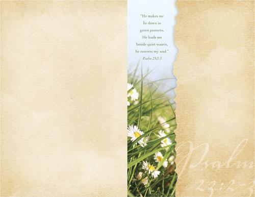 torn paper spring bulletin - church bulletins