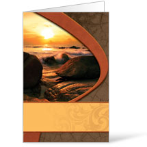 Sunrise Ocean - 8.5 x 11 Bulletins 8.5 x 11