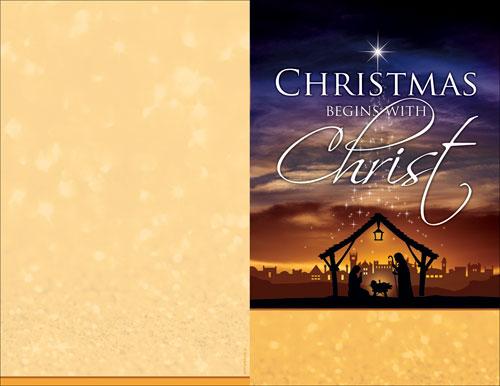Christmas Begins Christ Bulletin Church Bulletins