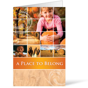 Belong Pumpkin  8.5 x 11 Bulletins 8.5 x 11