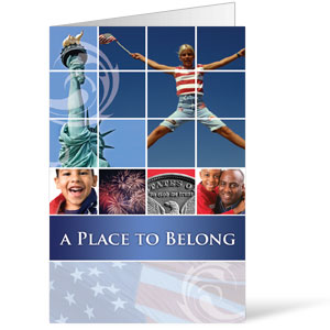 Belong Red White Blue  8.5 x 11 Bulletins 8.5 x 11