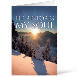 Restores My Soul  8.5 x 11 Bulletins 8.5 x 11