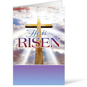 Rugged Risen Cross Bulletins