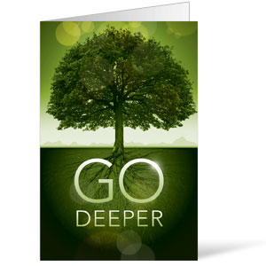 Church Bulletin Go Deeper Roots 8 5 Quot X 11 Quot Outreach