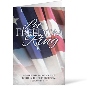 Let Freedom Ring 8.5 x 11 Bulletins 8.5 x 11