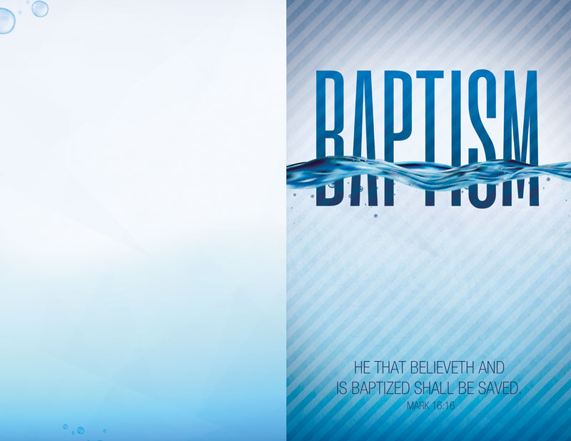 Church Bulletin Baptism Blue 8 5 Quot X 11 Quot Outreach Marketing