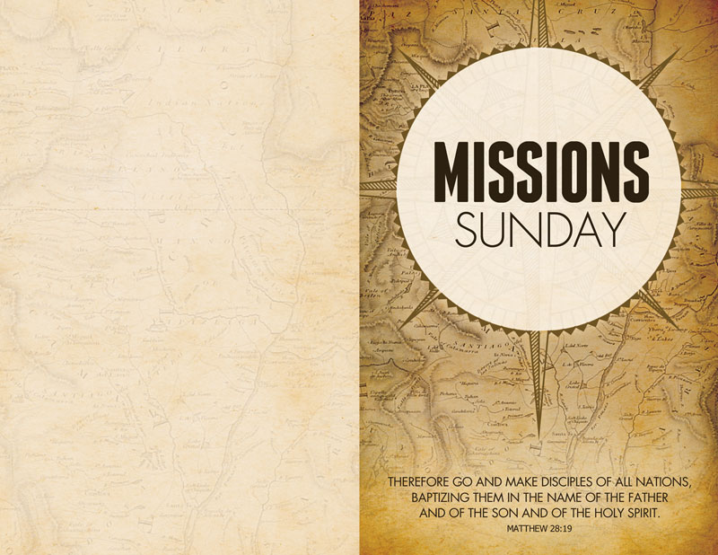 mission sunday map bulletin church bulletins outreach marketing