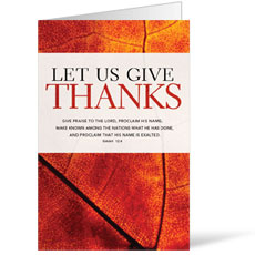 Give Thanks Leaf Bulletin