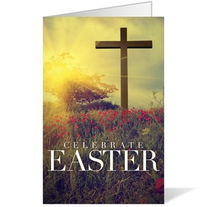 Celebrate Easter Cross - 8.5 x 11 Bulletins 8.5 x 11