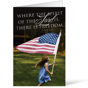 Freedom Flag 8.5 x 11 Bulletins 8.5 x 11