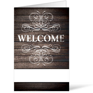 Rustic Charm Welcome 8.5 x 11 Bulletins 8.5 x 11