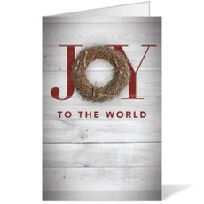 Joy Twig Wreath Bulletin