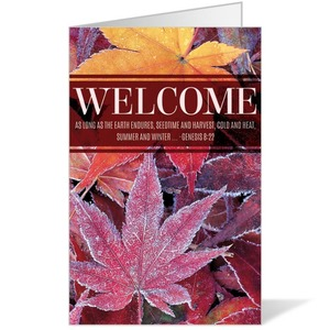 Frosted Leaves Bulletins 8.5 x 11
