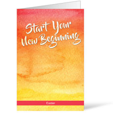 Big Invite New Beginning Bulletin