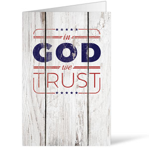 In God We Trust Wood Bulletins 8.5 x 11