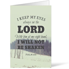Inspirational Art Psalm 16:8 Bulletin