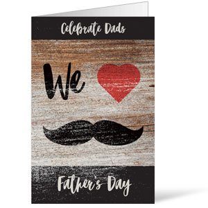 Fathers Day Mustache Bulletins 8.5 x 11