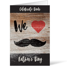 "Fathers Day Mustache 8.5"" x 11"" Bulletin"
