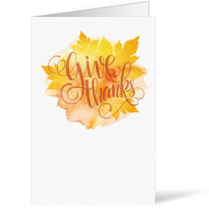 Give Thanks Leaves Bulletins 8.5 x 11