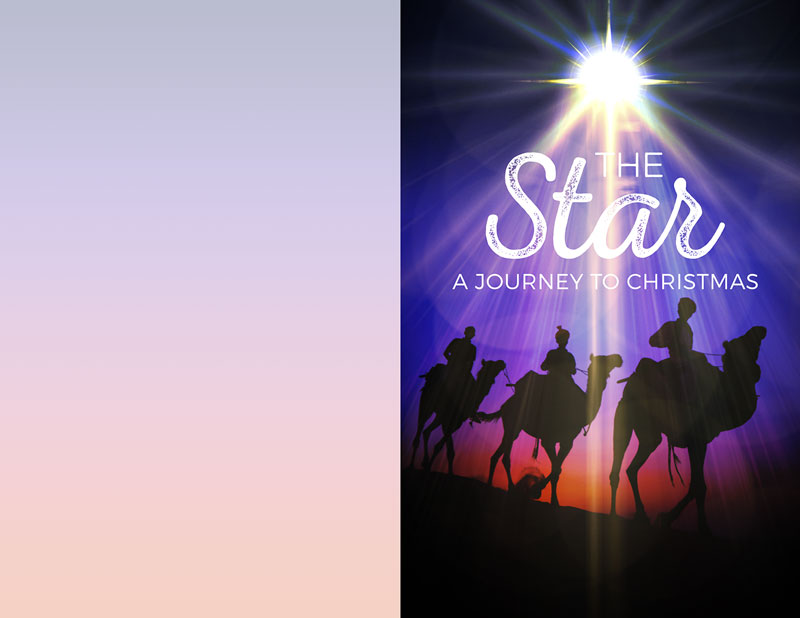Bulletins, Christmas, The Star: A Journey to Christmas, 8.5 x 11
