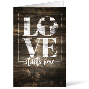 Love Starts Here Wood Bulletins 8.5 x 11