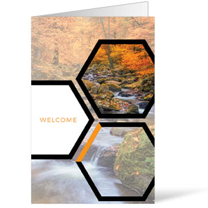 Welcome Hexagon Fall Bulletins 8.5 x 11