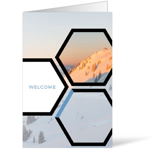 Welcome Hexagon Winter Bulletins 8.5 x 11