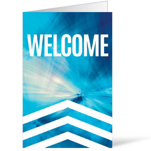 Chevron Welcome Blue Bulletins 8.5 x 11