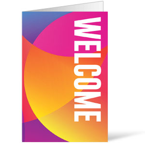 Curved Colors Welcome Bulletins 8.5 x 11