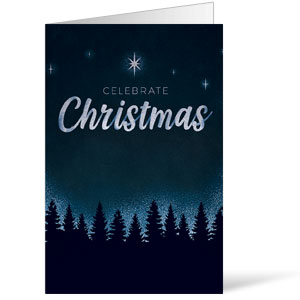Christmas Forest Silhouette Bulletins 8.5 x 11