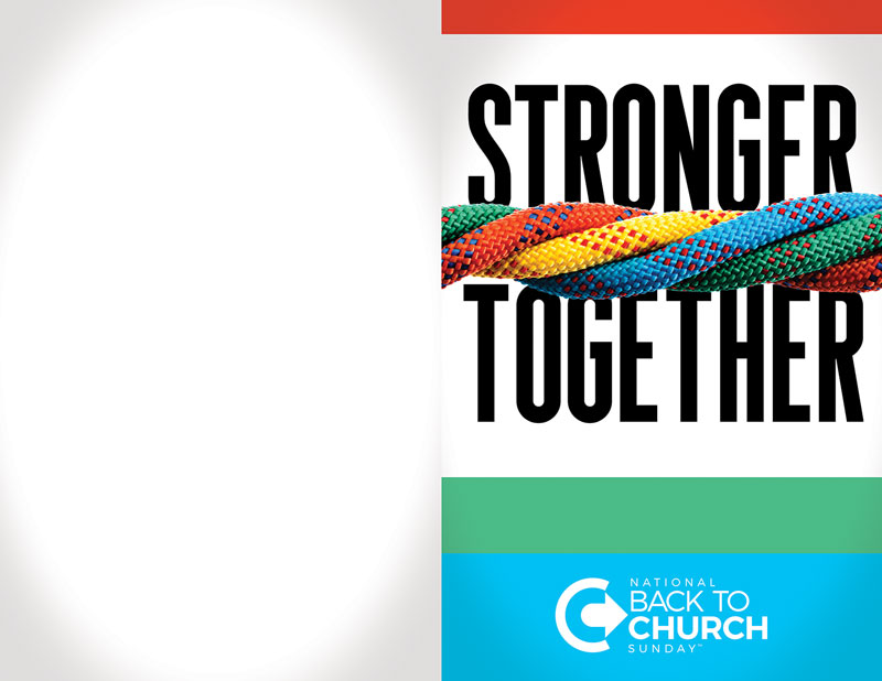 Bulletins, Back To Church Sunday, BTCS Stronger Together, 8.5 x 11