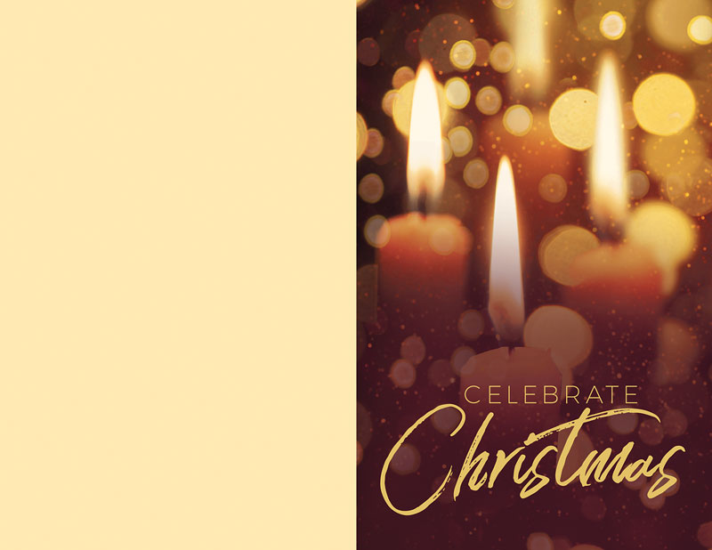 Bulletins, Christmas, Celebrate Christmas Candles, 8.5 x 11