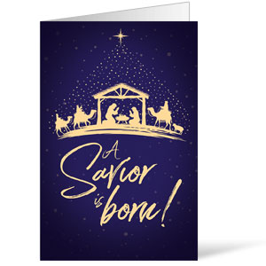 Christmas Star Savior Is Born Bulletins 8.5 x 11