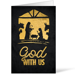 God With Us Gold Bulletins 8.5 x 11
