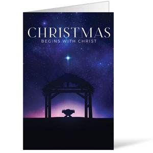 Begins With Christ Manger Bulletins 8.5 x 11