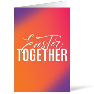 Easter Together Hues Bulletins 8.5 x 11