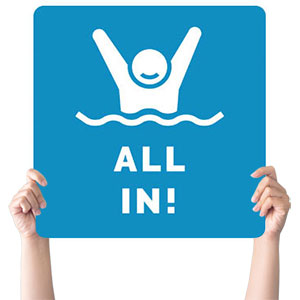 All In Baptism Handheld sign