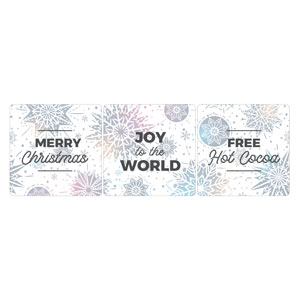 Foil Snowflake White Hand Held Set Handheld sign