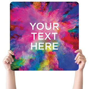 Back to Church Easter Your Text Handheld sign