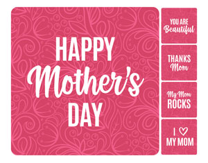 Mother's Day Pink Set Handheld sign