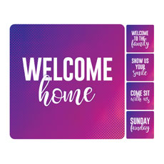 Purple Gradient Greeter Set