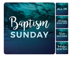 Teal Baptism Set Handheld sign