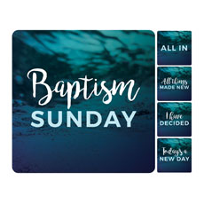 Teal Baptism Set