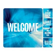 Chevron Blue Greeter Set