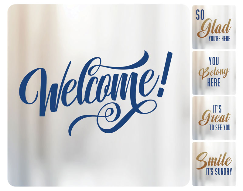 Handheld Signs, You're Invited, Connected Greeter Set, 21 x 21