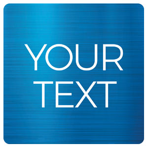 General Blue Your Text Handheld sign