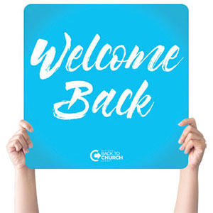 BTCS Stronger Together Welcome Handheld sign