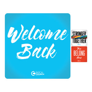 BTCS Stronger Together Welcome Set Handheld sign