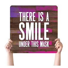 Colorful Wood Smile Mask